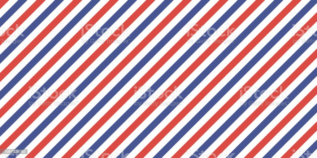 Classic retro background diagonal stripes red blue color, vector color stripes flag, airmail