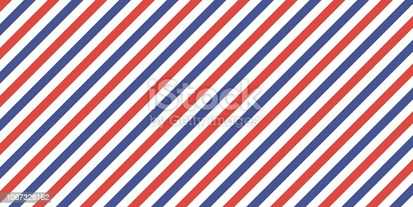 Classic retro background with diagonal stripes red blue color, vector color stripes flag, airmail