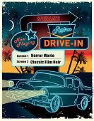 istock Classic Retro Drive in poster design advertisement 1251619297
