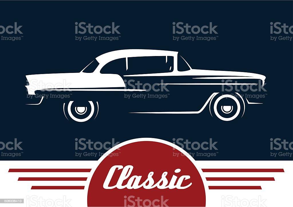 Classic Retro Style Car Motor Vehicle Silhouette Design Stock Vector ...