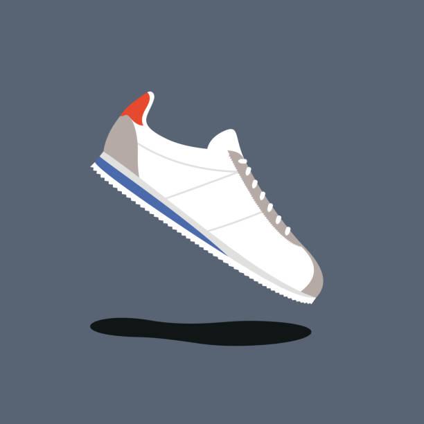 ilustrações, clipart, desenhos animados e ícones de ilustração em vetor clássico tênis de corrida - tênis