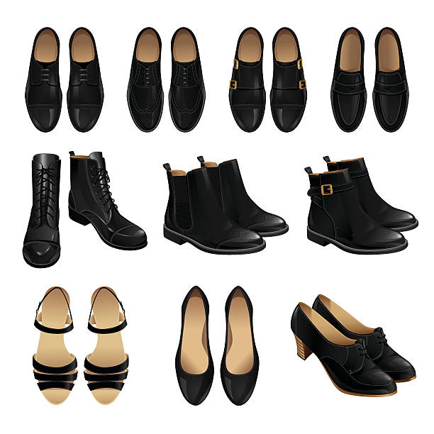 classic shoe style. - business casual fashion stock illustrations