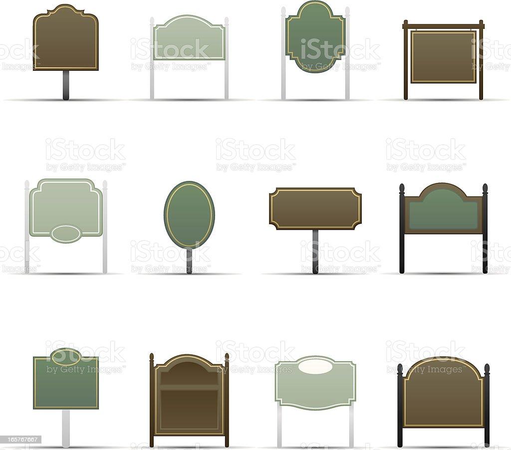Classic Signs vector art illustration