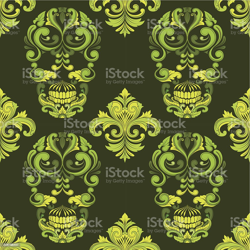 Classic Skull Ornamental Pattern royalty-free classic skull ornamental pattern stock vector art & more images of abstract