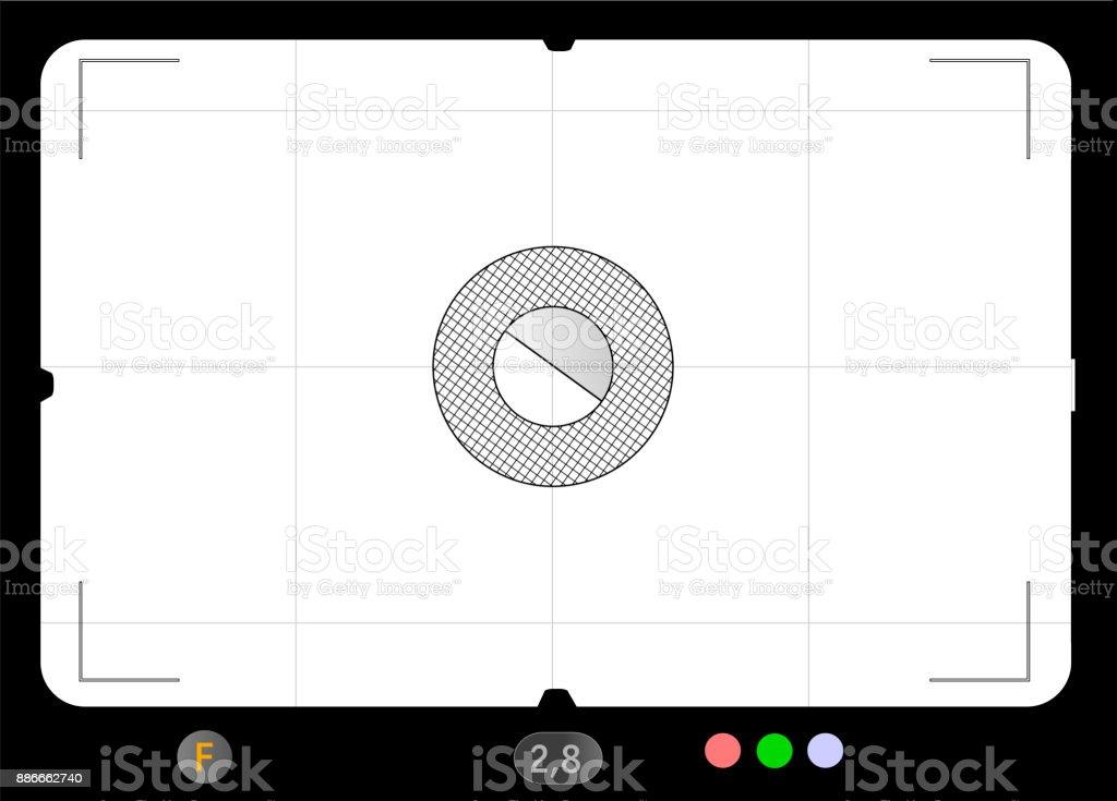 Klassische Spiegelreflexkamera Sucher, mit freier Platz für Ihre Fotos, Vektorgrafiken – Vektorgrafik