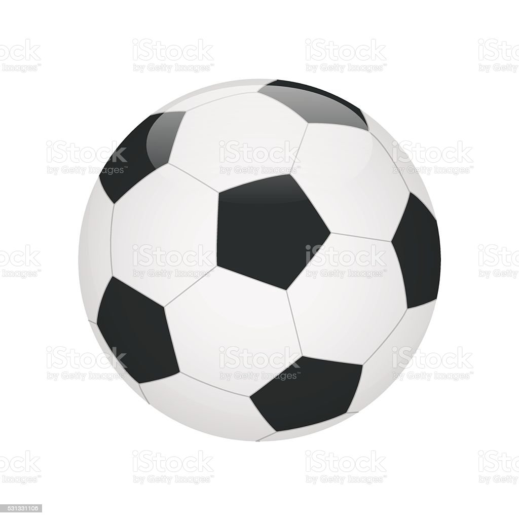 Classic soccer ball isolated on white background vector art illustration