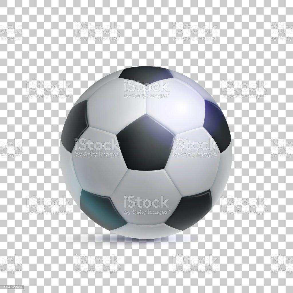 Klassische Fussball Realistisch Transparenter Hintergrund