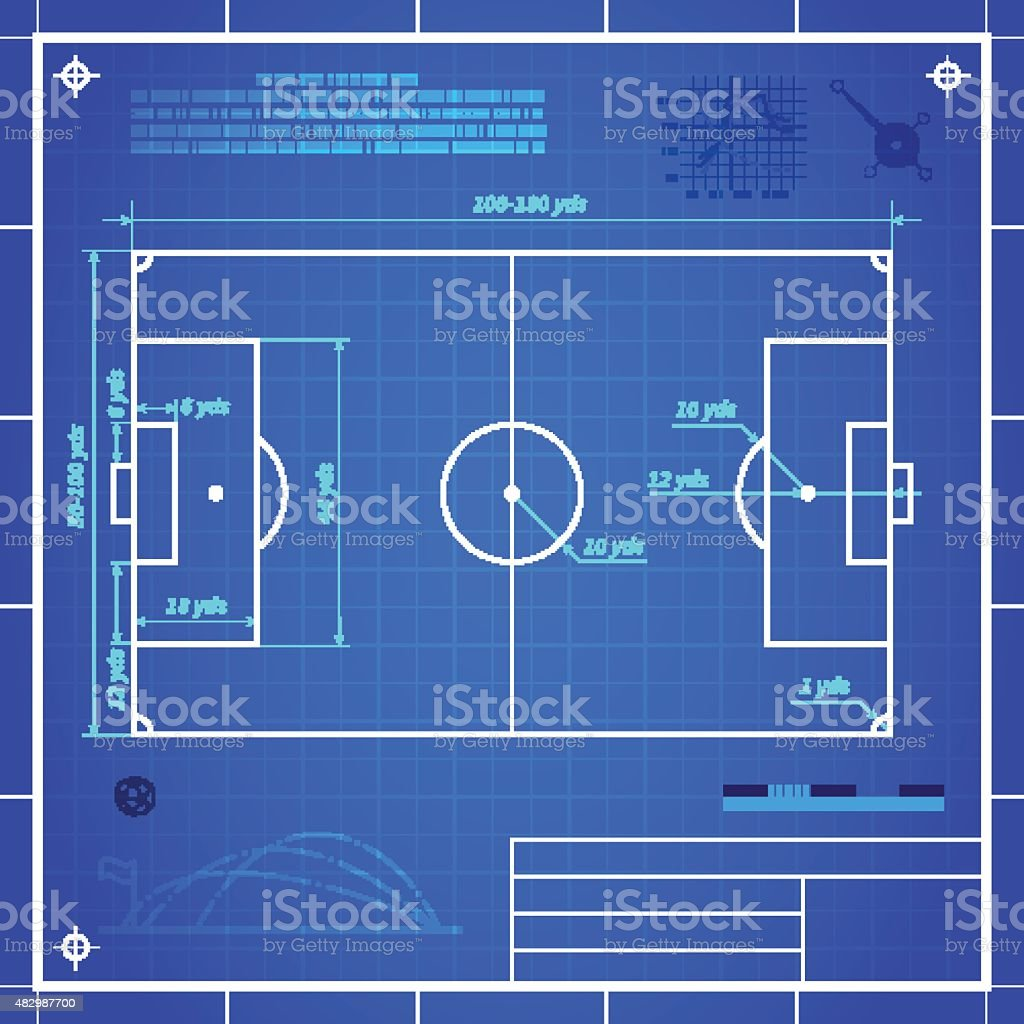 Classic Soccer Of Football Pitch Measurements Stock Illustration Download Image Now Istock