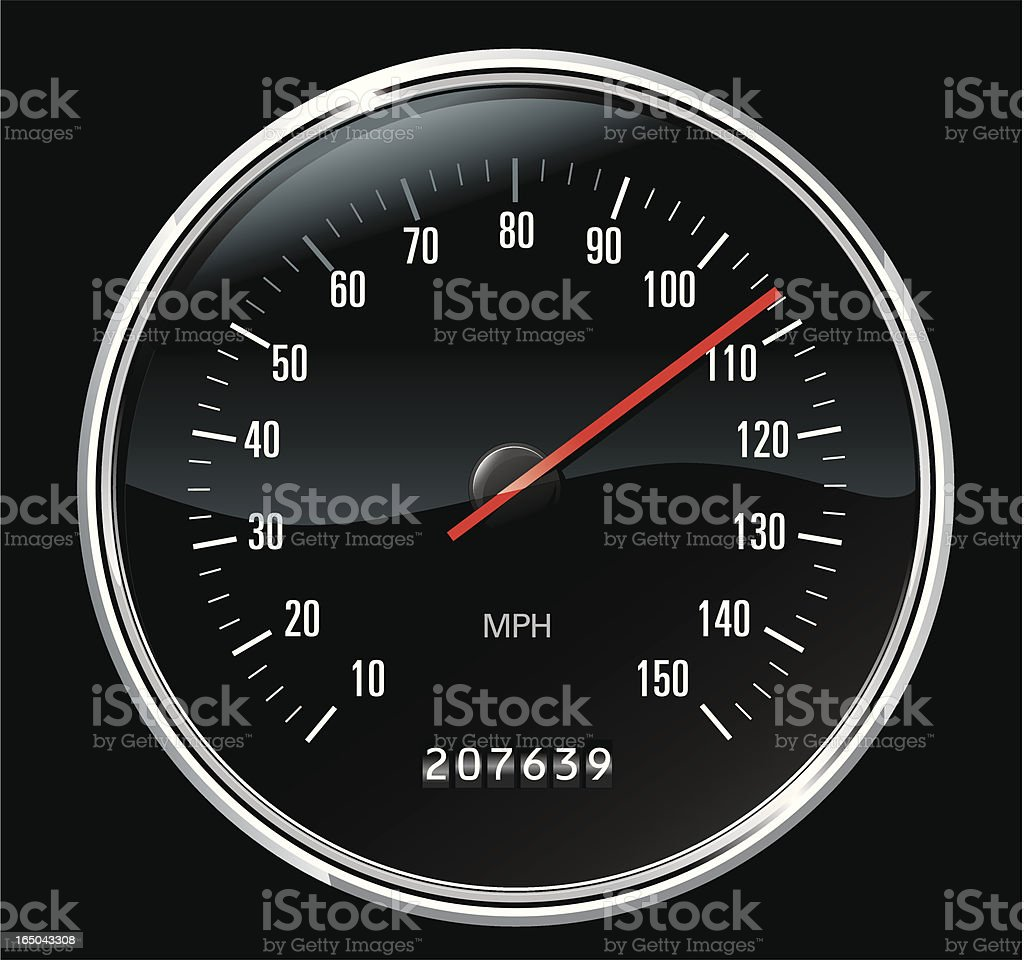 Classic Sport Speedometer vector art illustration