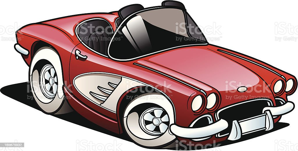 Classic Sports car royalty-free classic sports car stock illustration - download image now