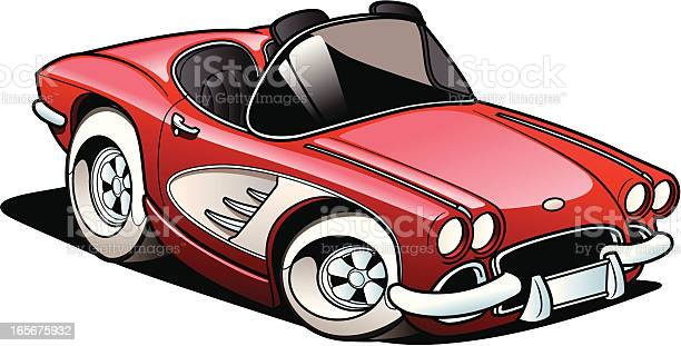 Classic Sports Car Stock Illustration - Download Image Now