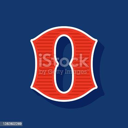 istock Classic style number zero Sport logo. 1282802269