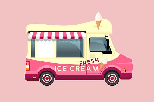 Classic Summer Ice Cream Van
