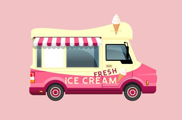 Klassische Sommer Eis Van – Vektorgrafik