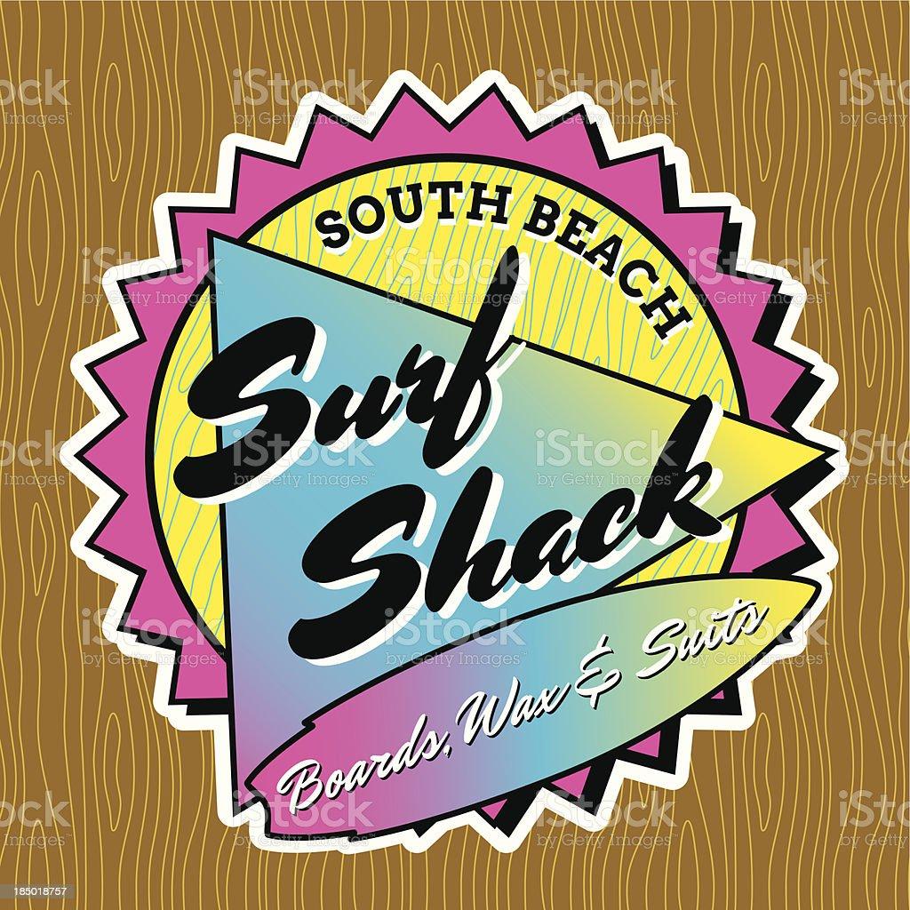 Classic Surf Logo Design royalty-free stock vector art