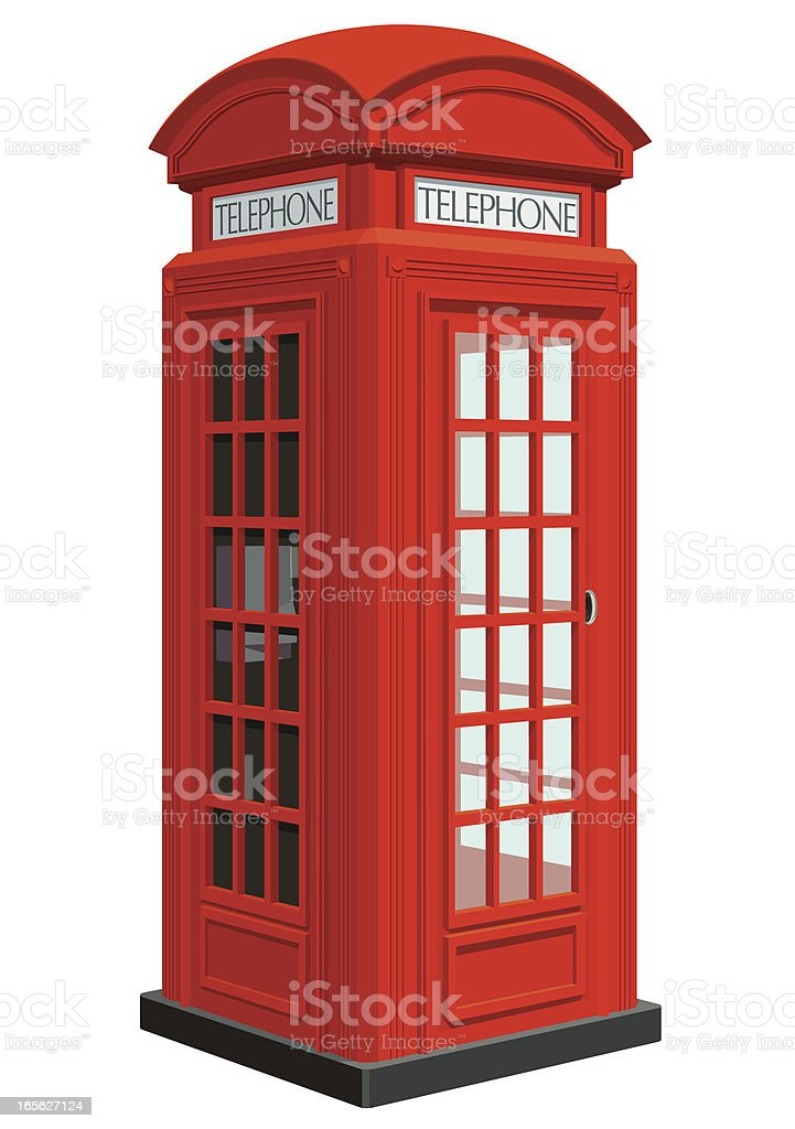 Classic Telephone Booth vector art illustration