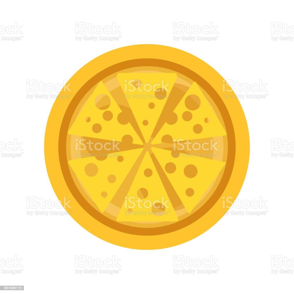 Klassische Dünne Kruste Pizza Mit Leckeren Käse Traditionelle ...