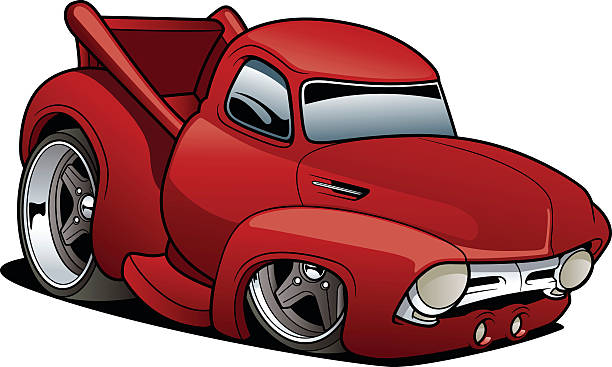 Royalty Free Hot Rod Truck Clip Art, Vector Images ...