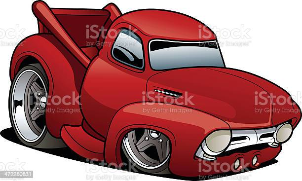 Classic Truck Stock Illustration - Download Image Now
