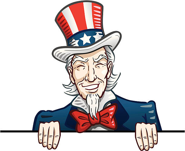 Classic Uncle Sam Sign Great illustration of a classic Uncle Sam holding a sign or banner. Perfect for use in an advertisement or for Fourth of July. EPS and JPEG files included. Be sure to view my other illustrations, thanks! uncle sam stock illustrations