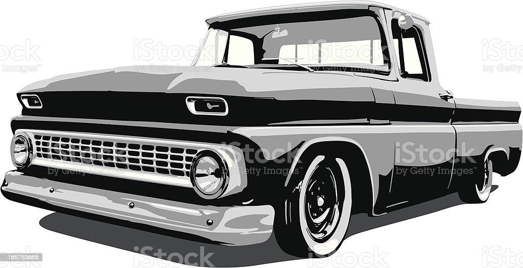 Classic Vector Pickup Truck vector art illustration