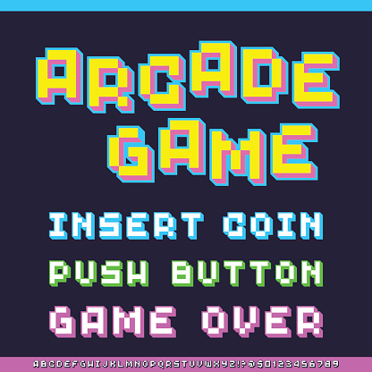 Classic Video Game Font
