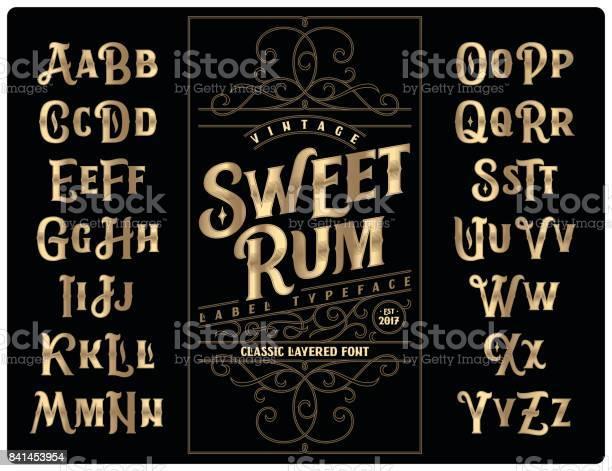 Classic vintage decorative font set named sweet rum with label design vector id841453954?b=1&k=6&m=841453954&s=612x612&h=whh5ip0rlwrxmwdl29dvmi2iijg5bqhabxqvhiyhv2o=
