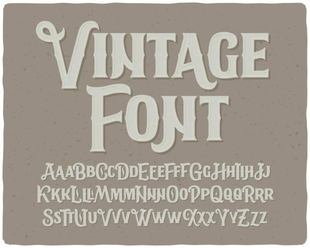 classic vintage decorative font set - retro fonts stock illustrations, clip art, cartoons, & icons