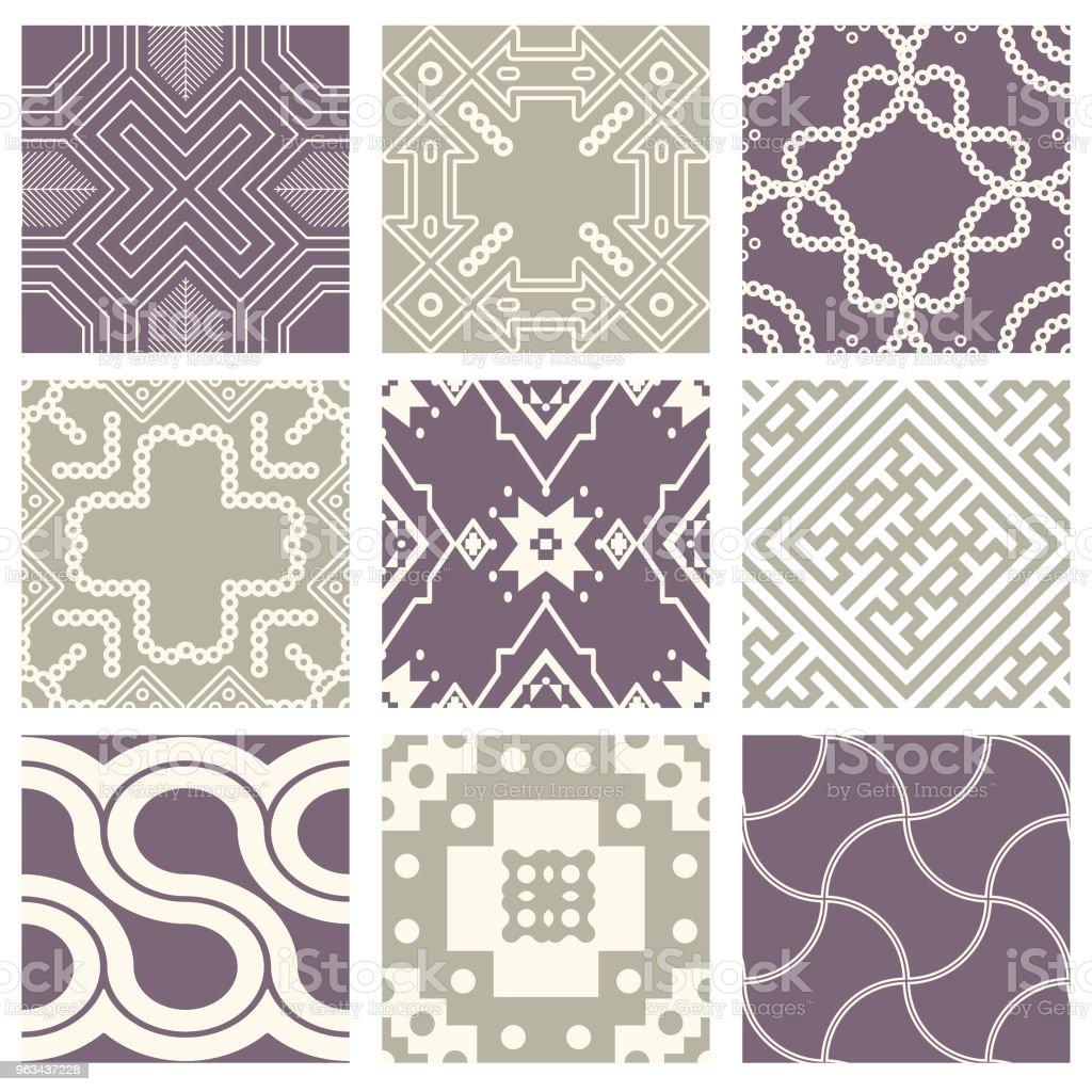 Klasyczny vintage elegancki pastelowy fioletowy bez szwu abstrakcyjny wzór - Grafika wektorowa royalty-free (Antyczny)