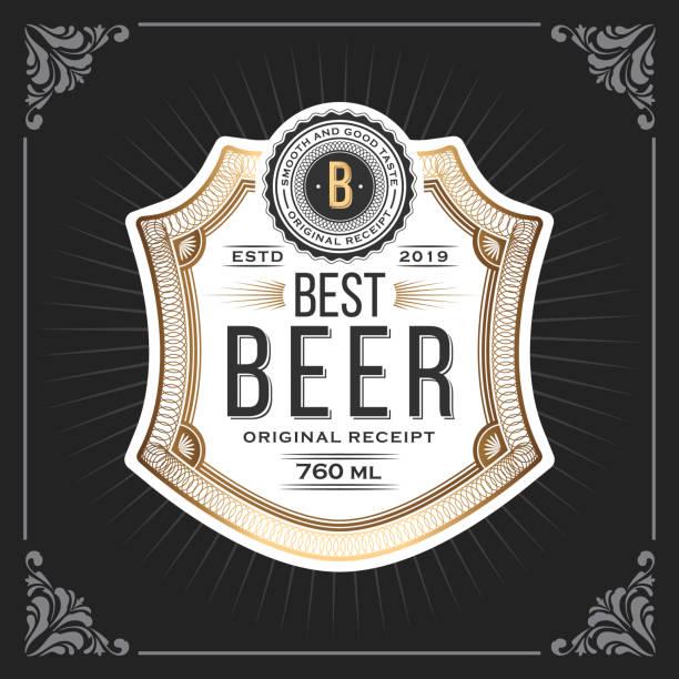 classic vintage frame for beer labels banner - alcohol drink patterns stock illustrations