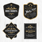 istock Classic vintage frame for whisky labels 873425650