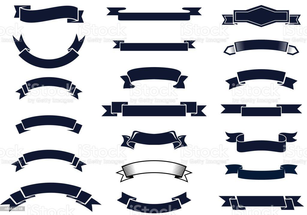 Banni res de ruban vintage classique stock vecteur libres for Formas ornamentales