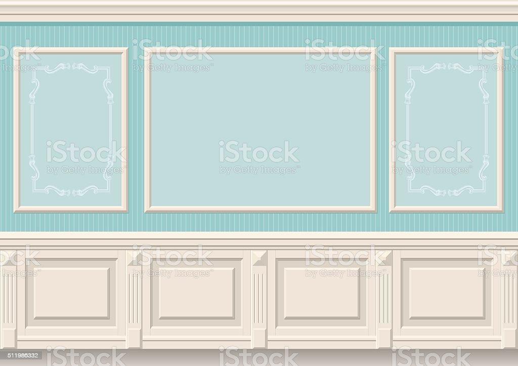 Painéis de parede clássico - ilustração de arte em vetor