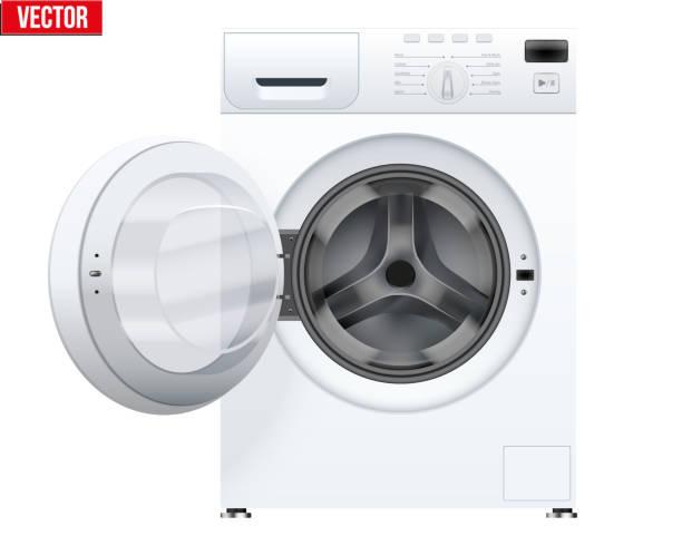 classic washing machine - washing machine stock illustrations, clip art, cartoons, & icons