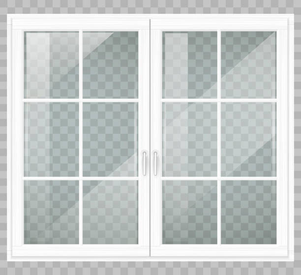 ilustrações, clipart, desenhos animados e ícones de janela de madeira clássico - molduras decorativas