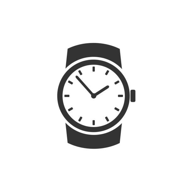 bildbanksillustrationer, clip art samt tecknat material och ikoner med klassiskt armbandsur-ikonen - armbandsur