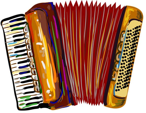 Klassische Akkordeon – Vektorgrafik