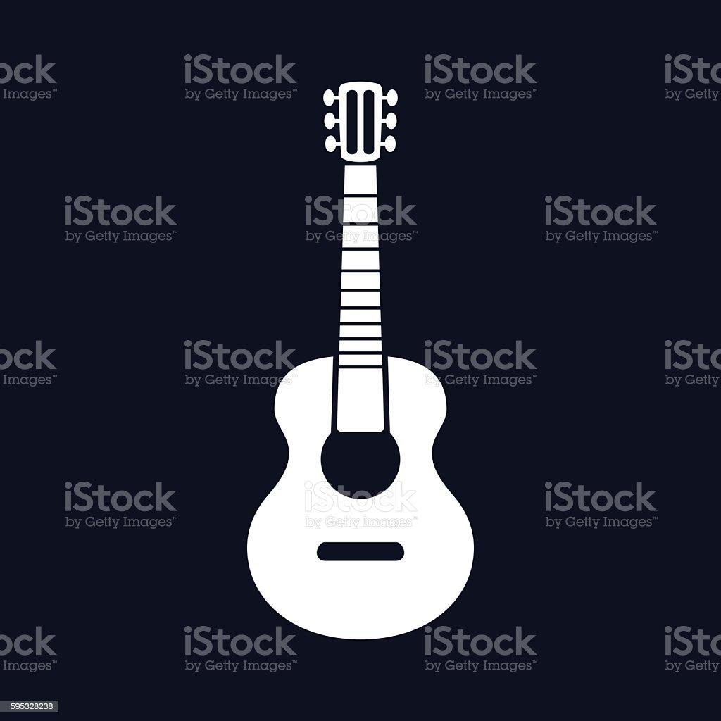 Classical Acoustic Guitar Illustration - VECTOR vector art illustration