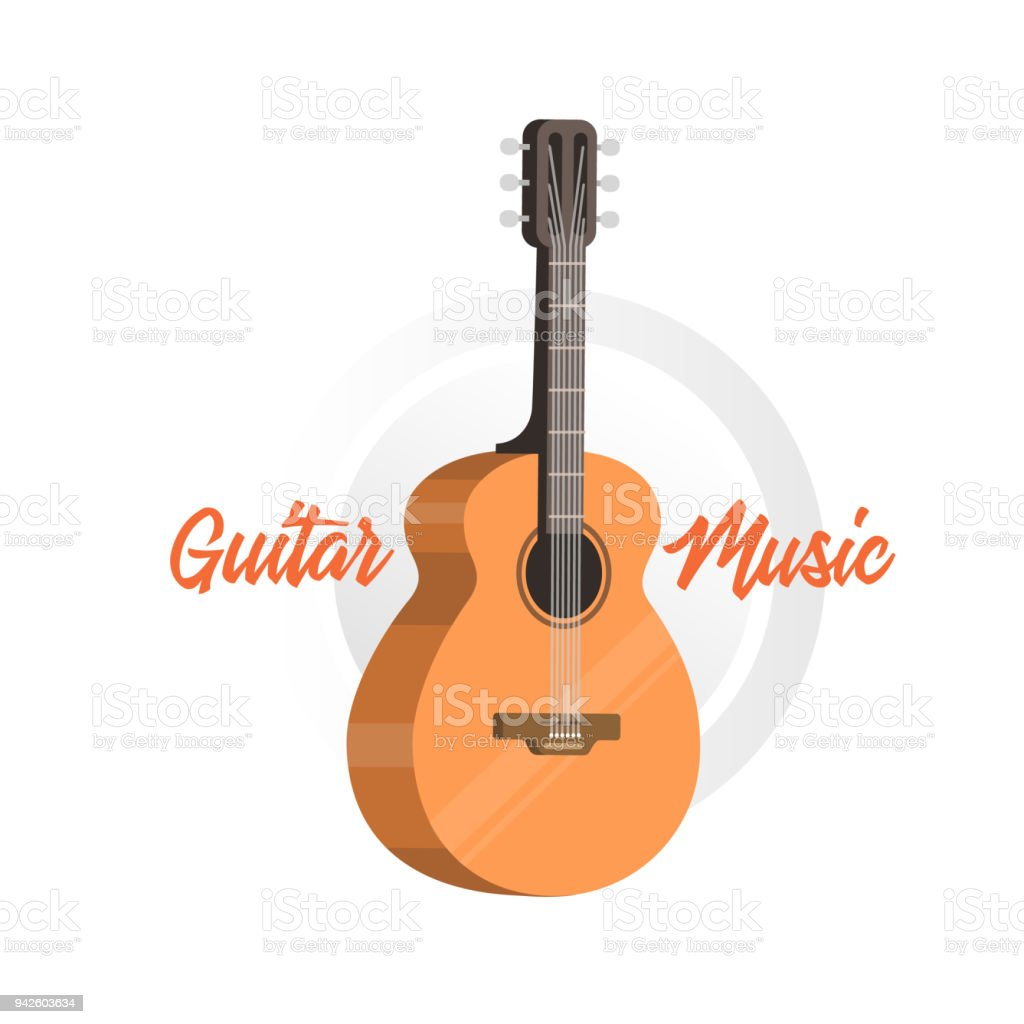 Classical Acoustic Guitar Isolated Silhouette Classic Guitar Stock ...
