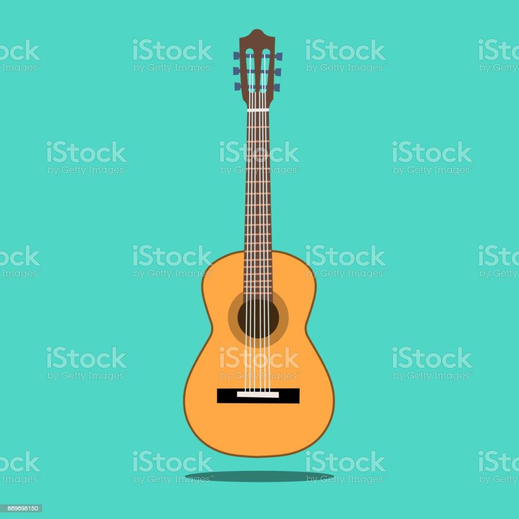 Ilustración de Guitarra Acústica Clásica Guitarra Clásica Silueta ...