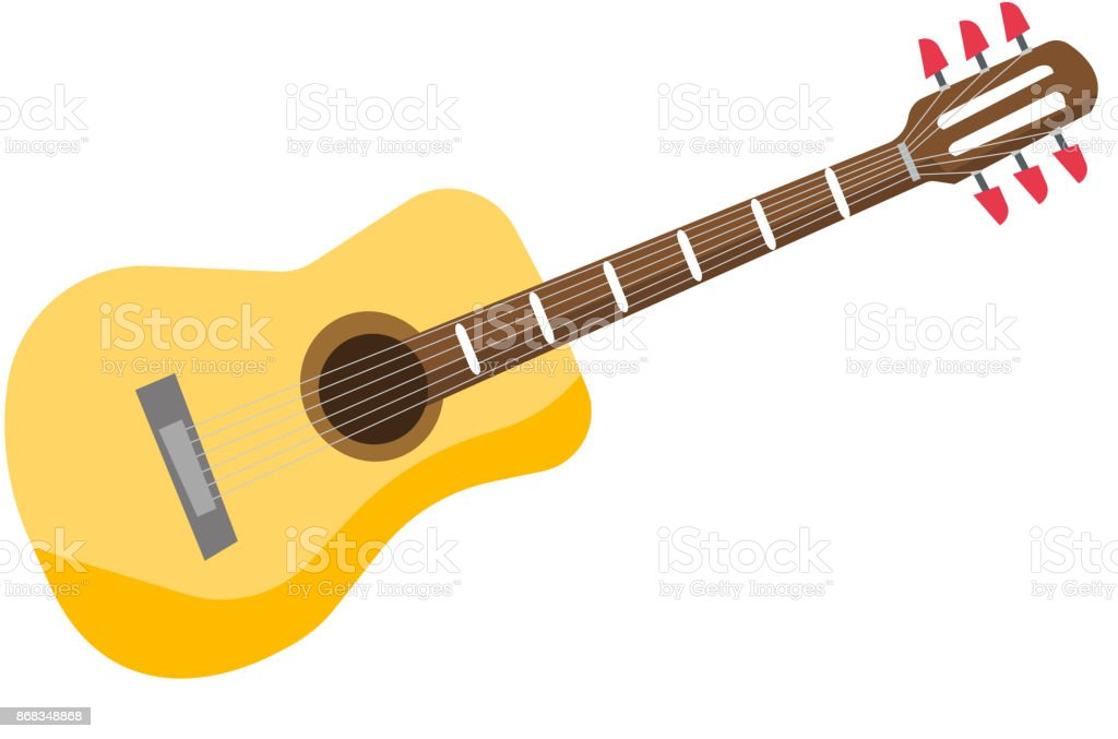 Classical acoustic guitar vector illustration