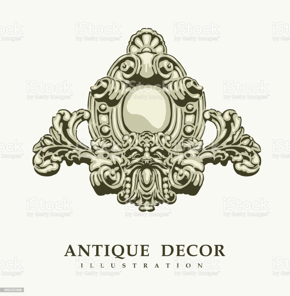 Classical antique decor vector art illustration