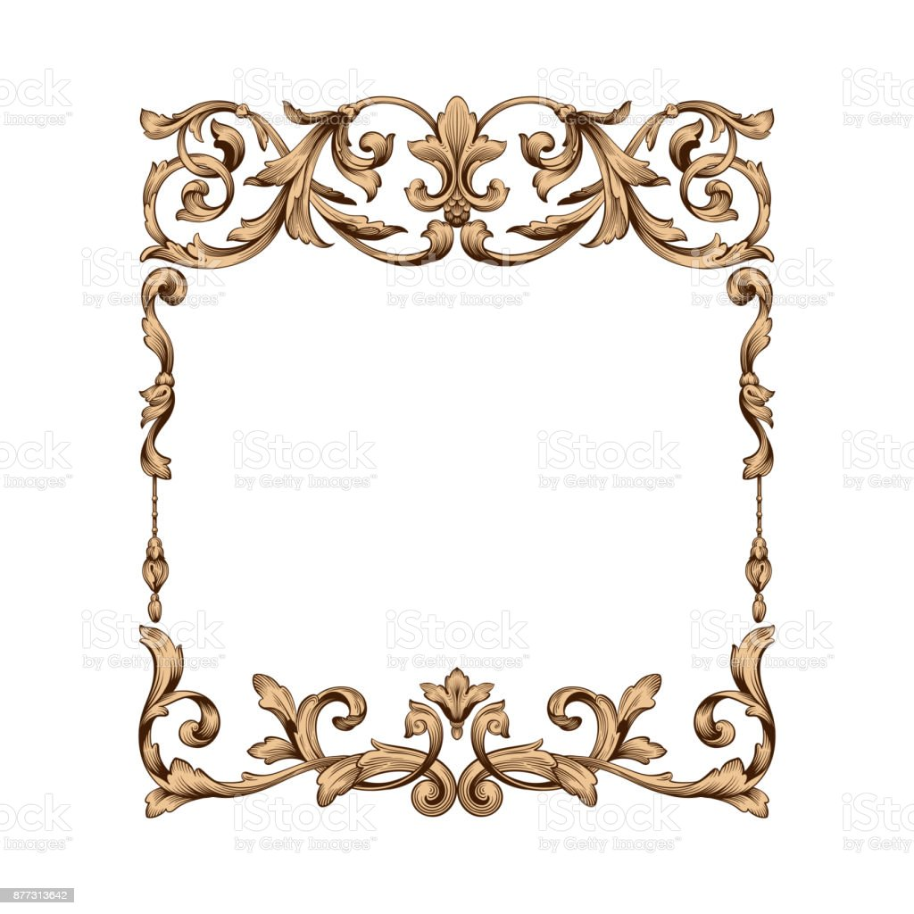 Classical baroque ornament vector vector art illustration