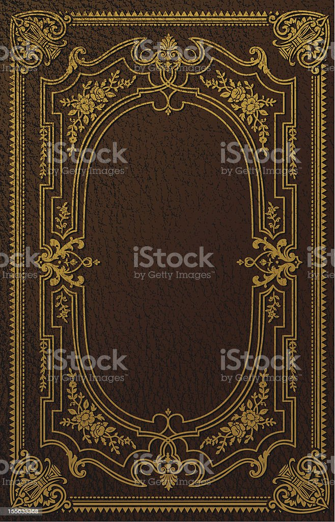 Classical Book Cover Design vector art illustration