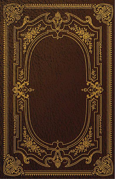 classical book cover design - book borders stock illustrations