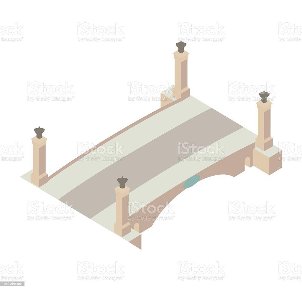 Classical bridge illustration vector art illustration
