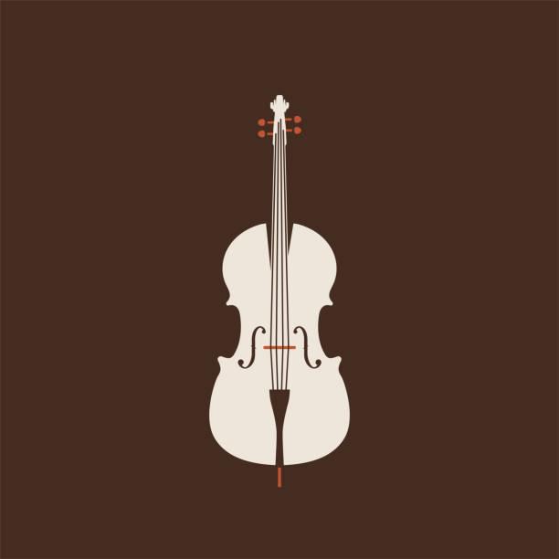 bildbanksillustrationer, clip art samt tecknat material och ikoner med klassisk cello ikonen. isolerade vektor sträng sjuk. - violin