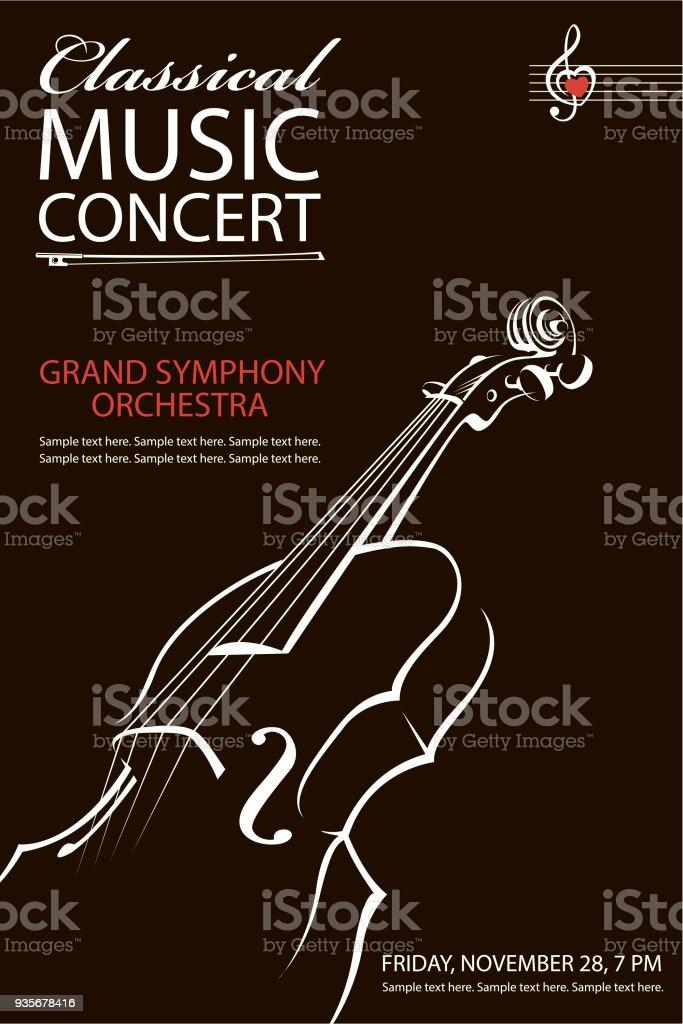 classical concert poster vector art illustration