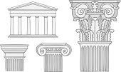 classical greece style columns vector