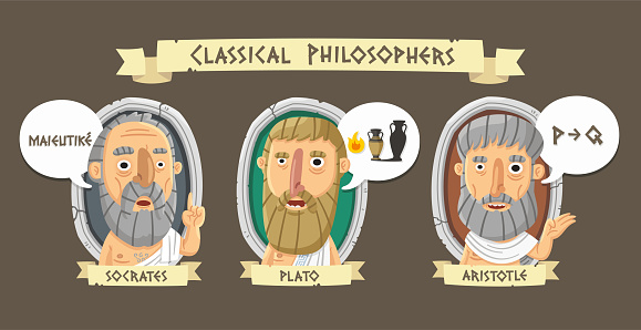 Classical greek philosophers set: Socrates,Plato and Aristotle